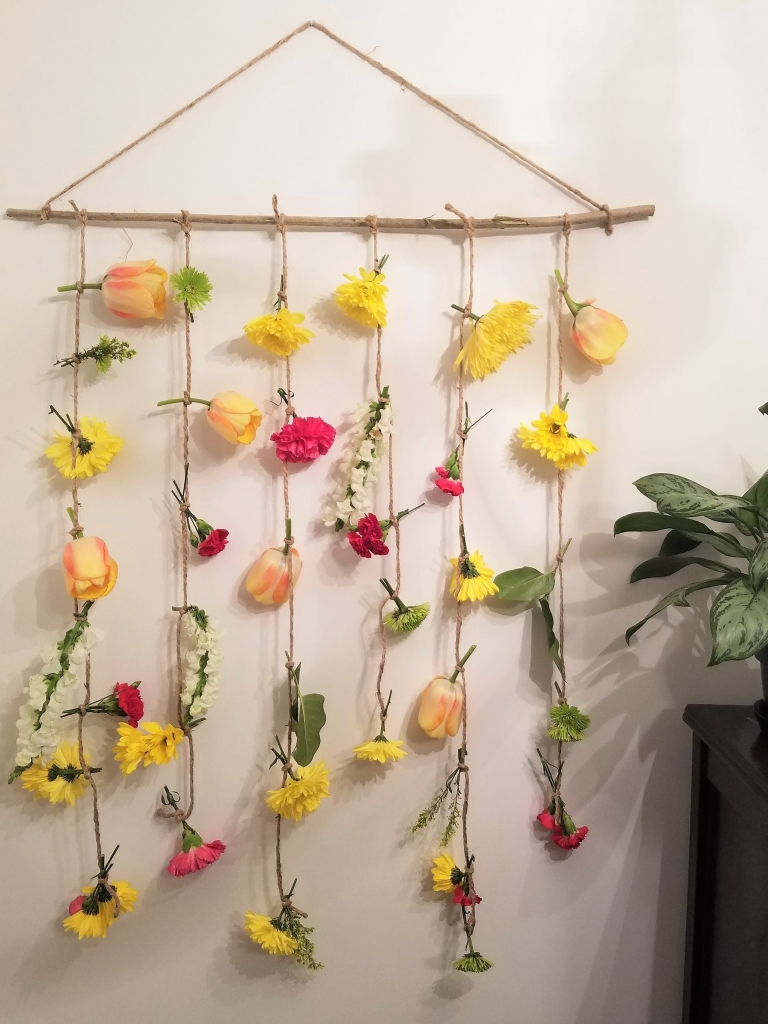 Homemade Bohemian Flower Garland